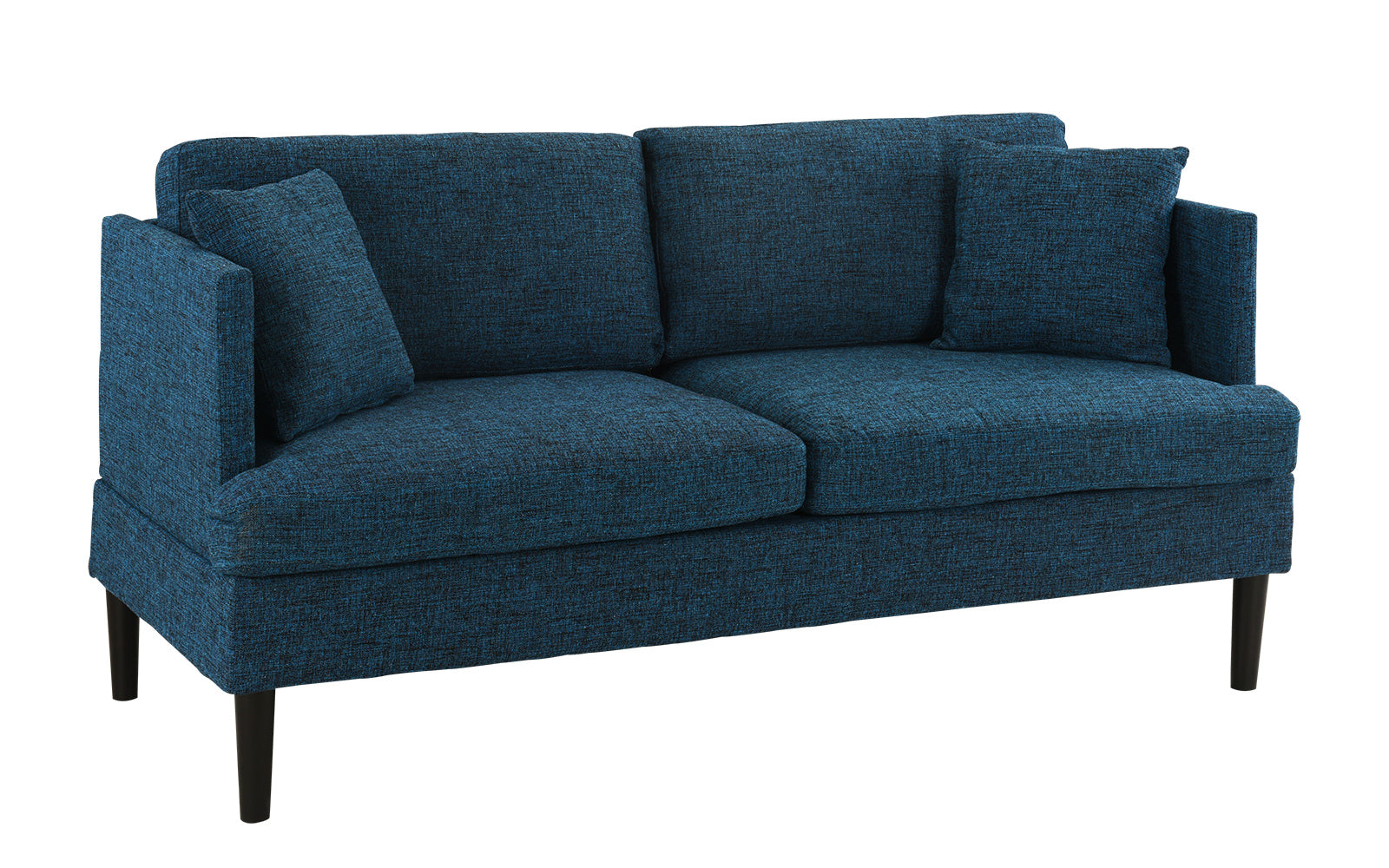 Ordinaire August Modern Loveseat Sofa With Wooden Legs