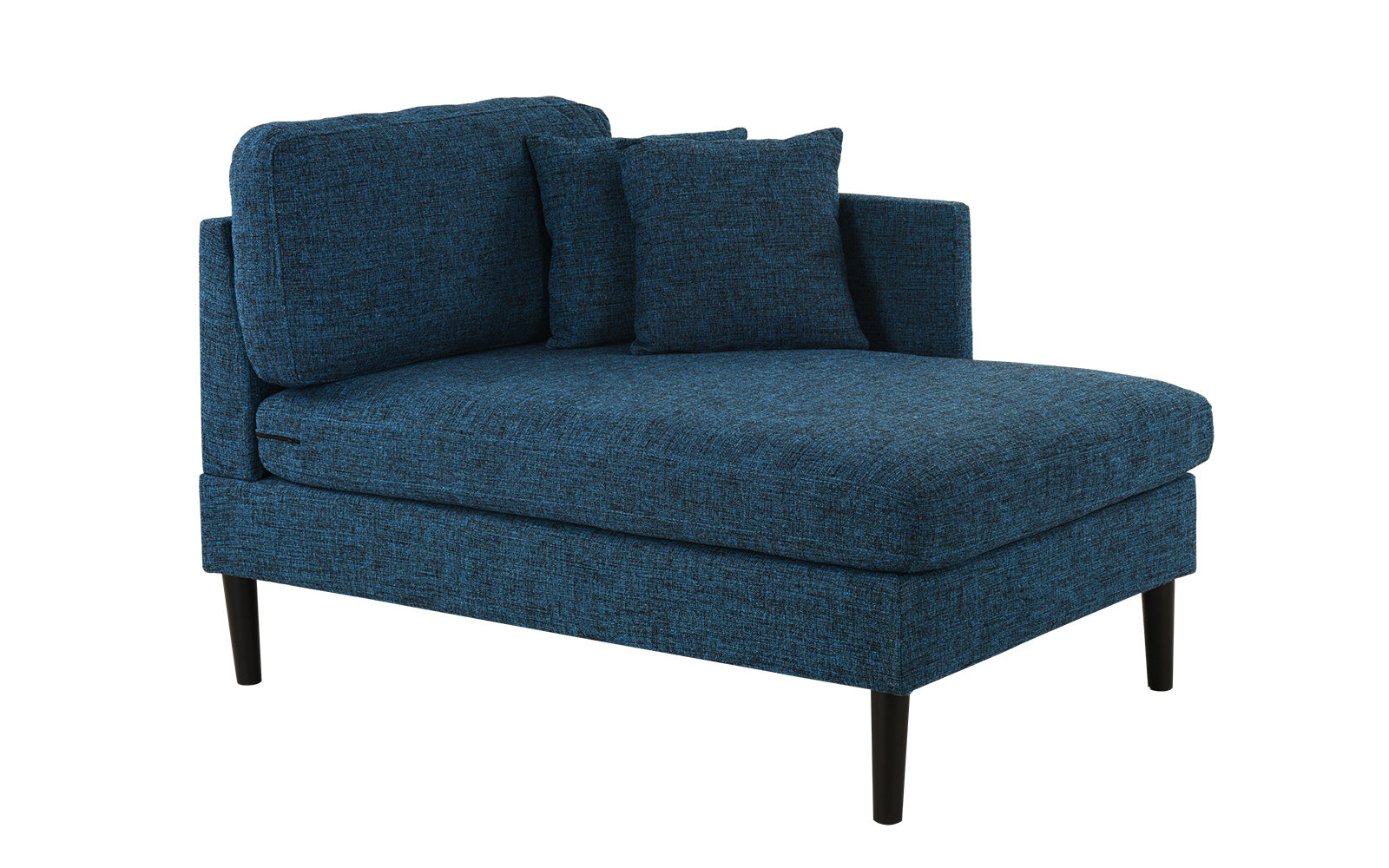 August Modern Chaise Lounge with Wooden Legs