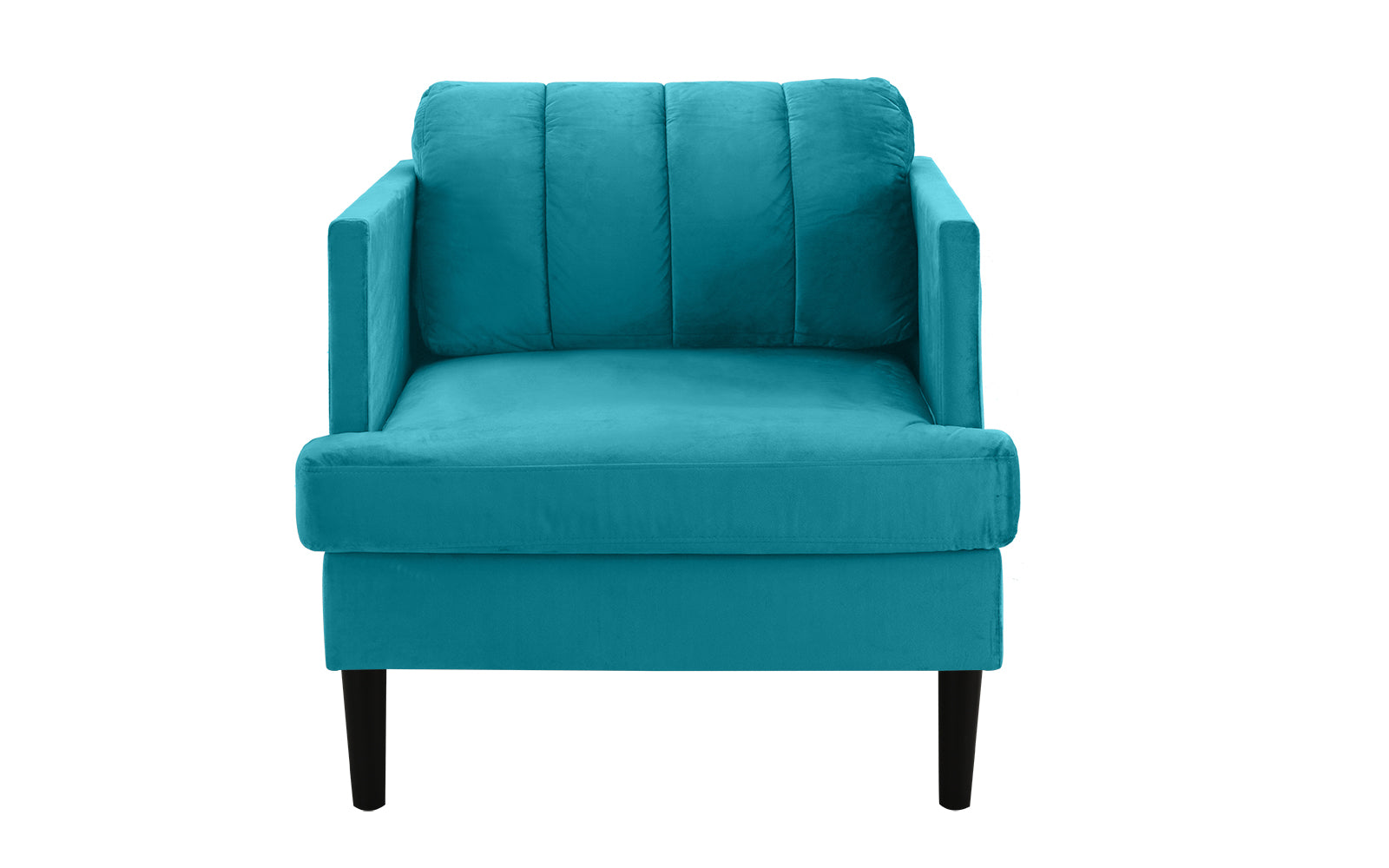Pleated Velvet Armchair Image