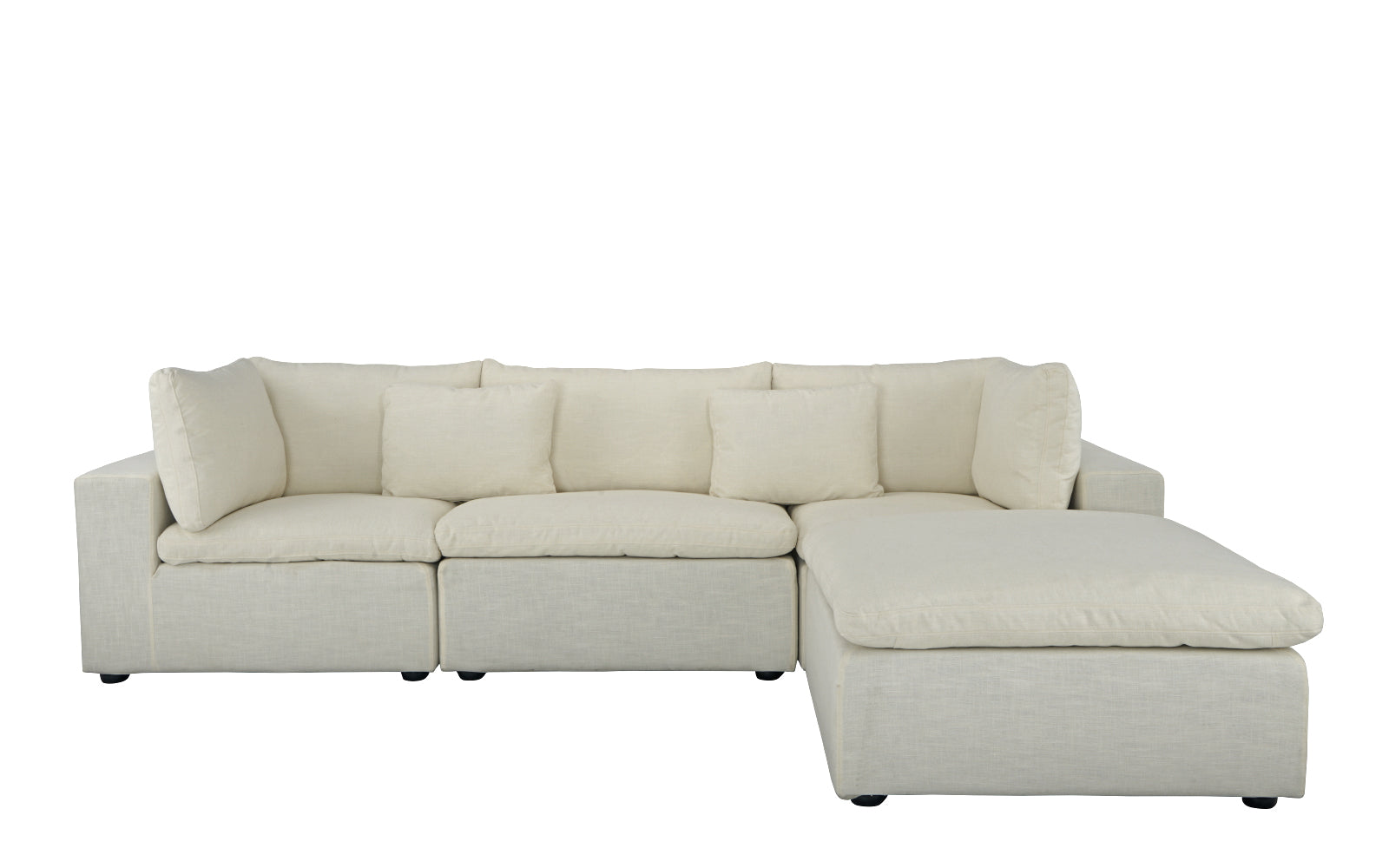 Ordinaire Fitz Contemporary Low Profile Lounge Sofa With Chaise
