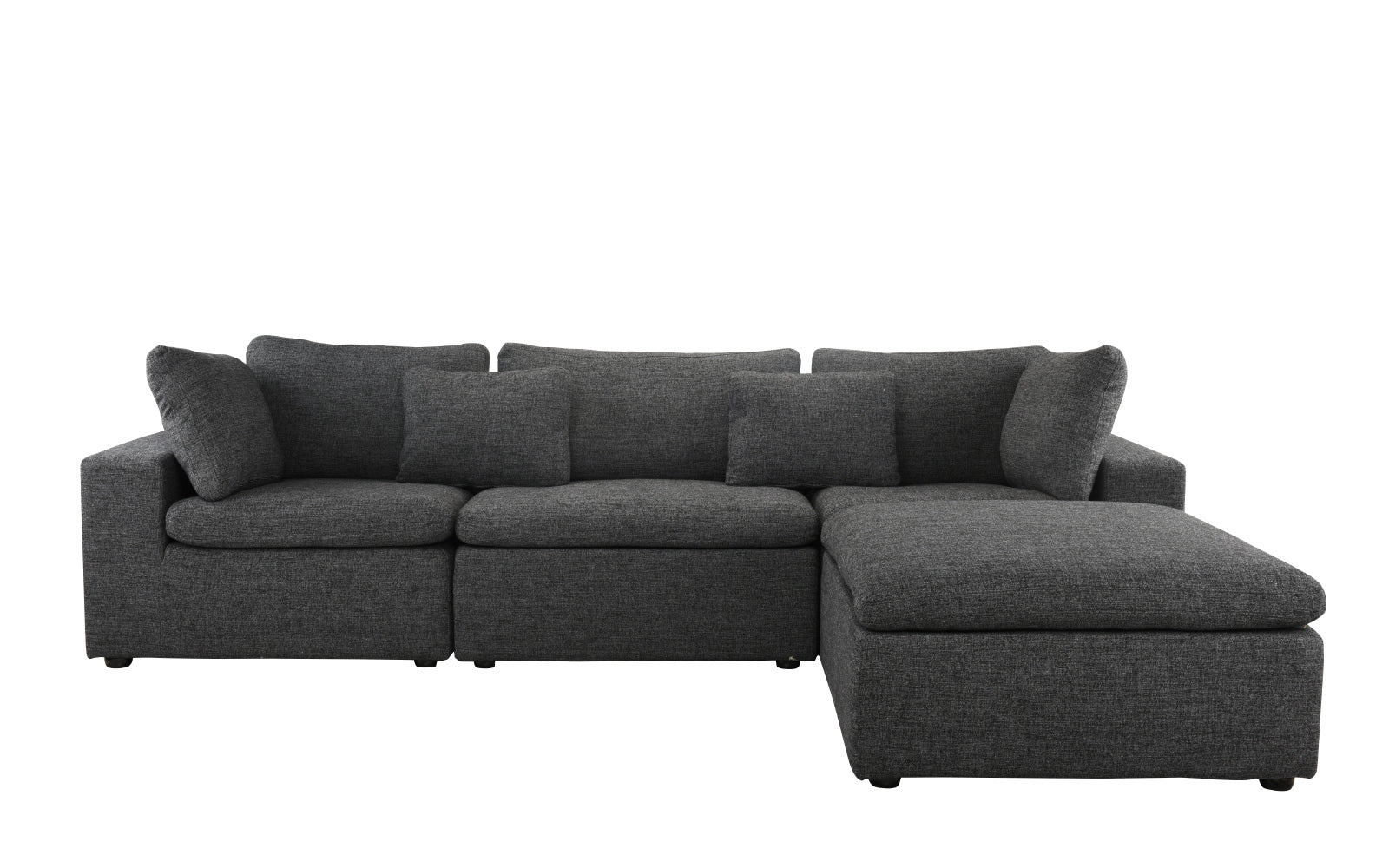 Delano Modern Low Profile Sectional Sofa with Chaise