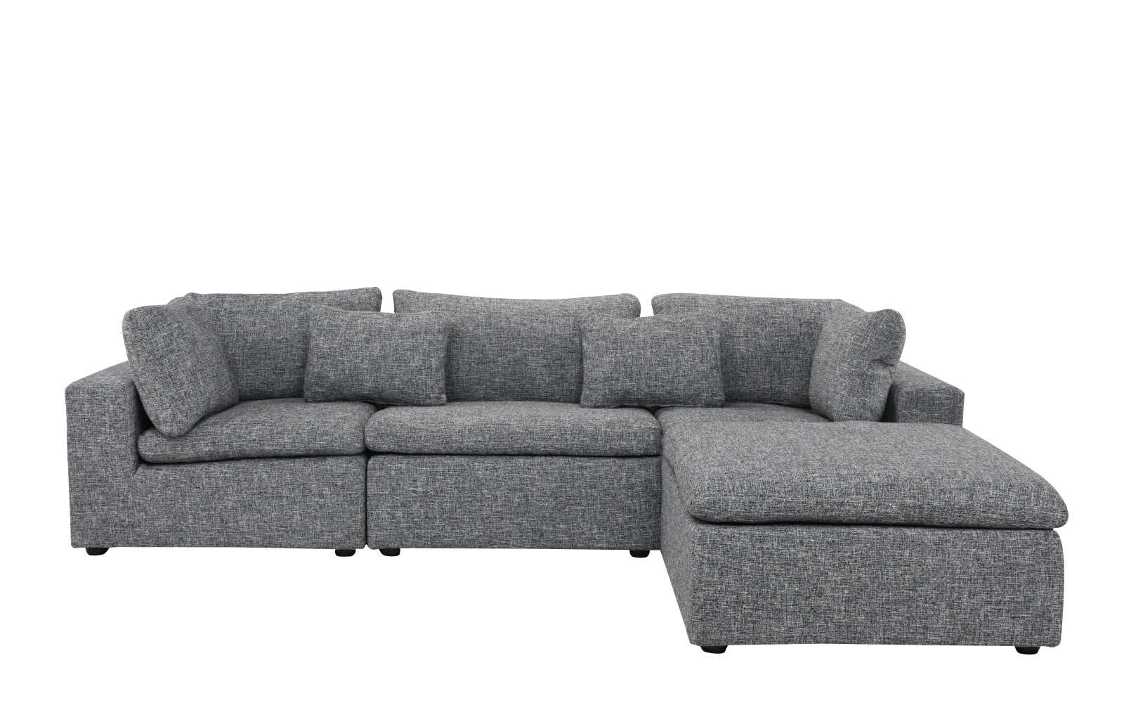 Delano Modern Low Profile Sectional Sofa with Chaise | Sofamania.com