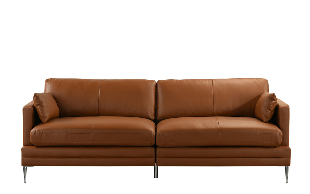 Hadrien Mid Century Modern Leather Match Sofa