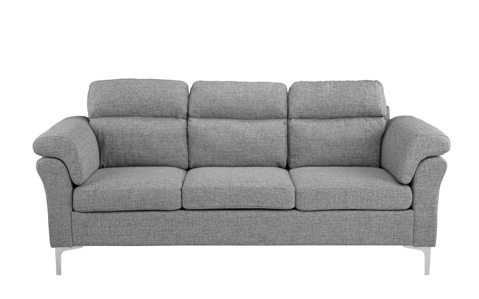 Linen Sofa Chrome Legs Image