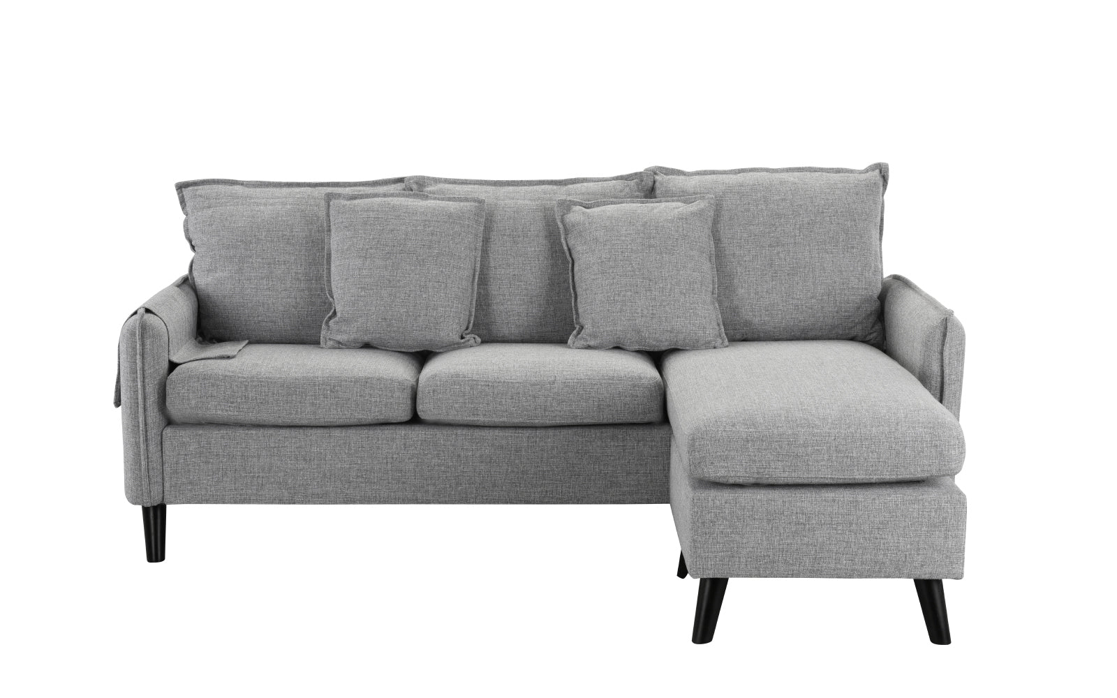 Space Saving Linen Sectional Image