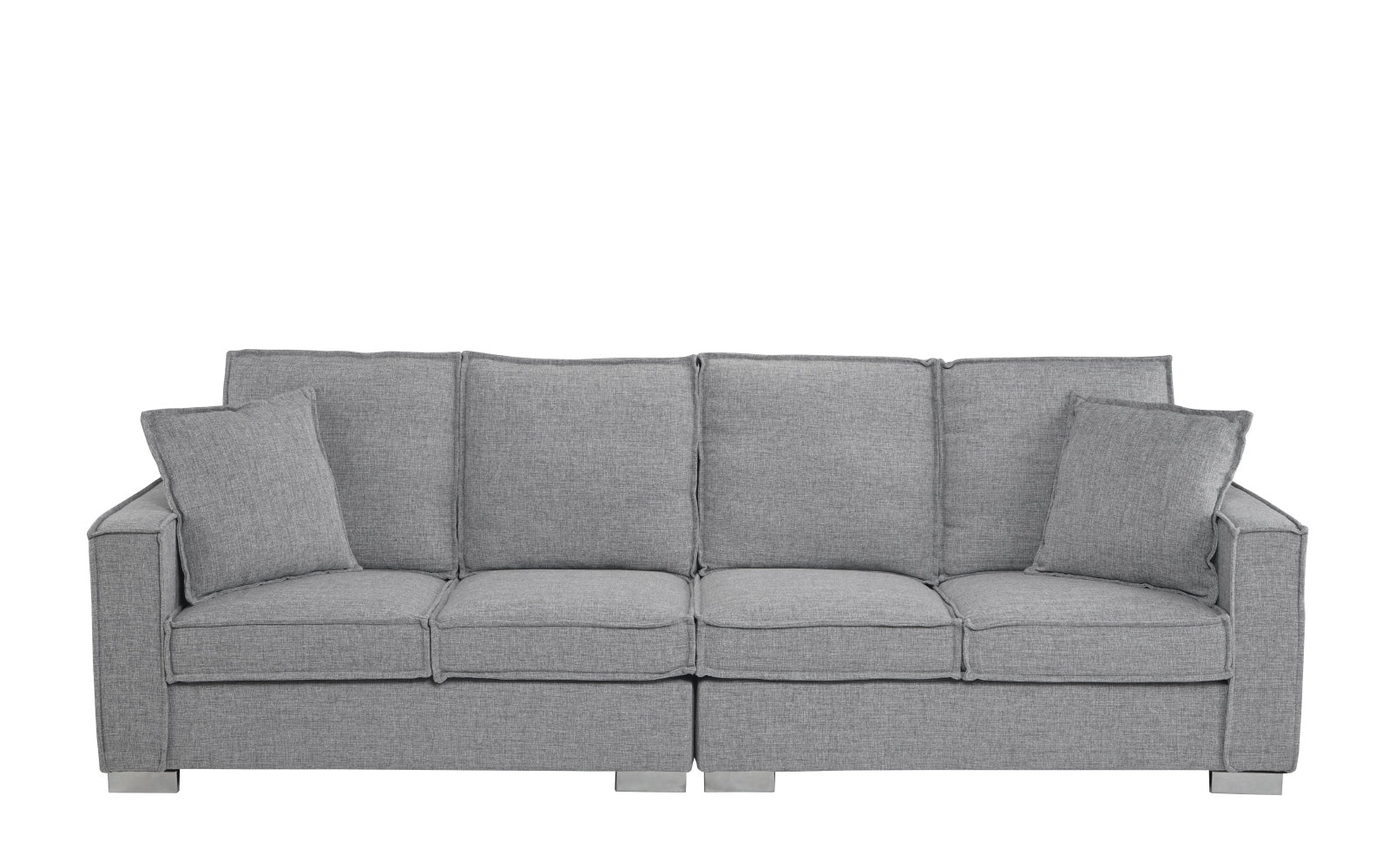 Low Frame Seat Linen Sofa Image