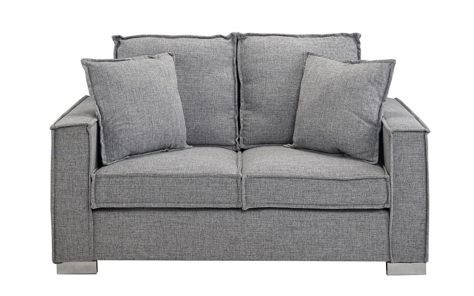 Small Space Linen Loveseat Sofa Image