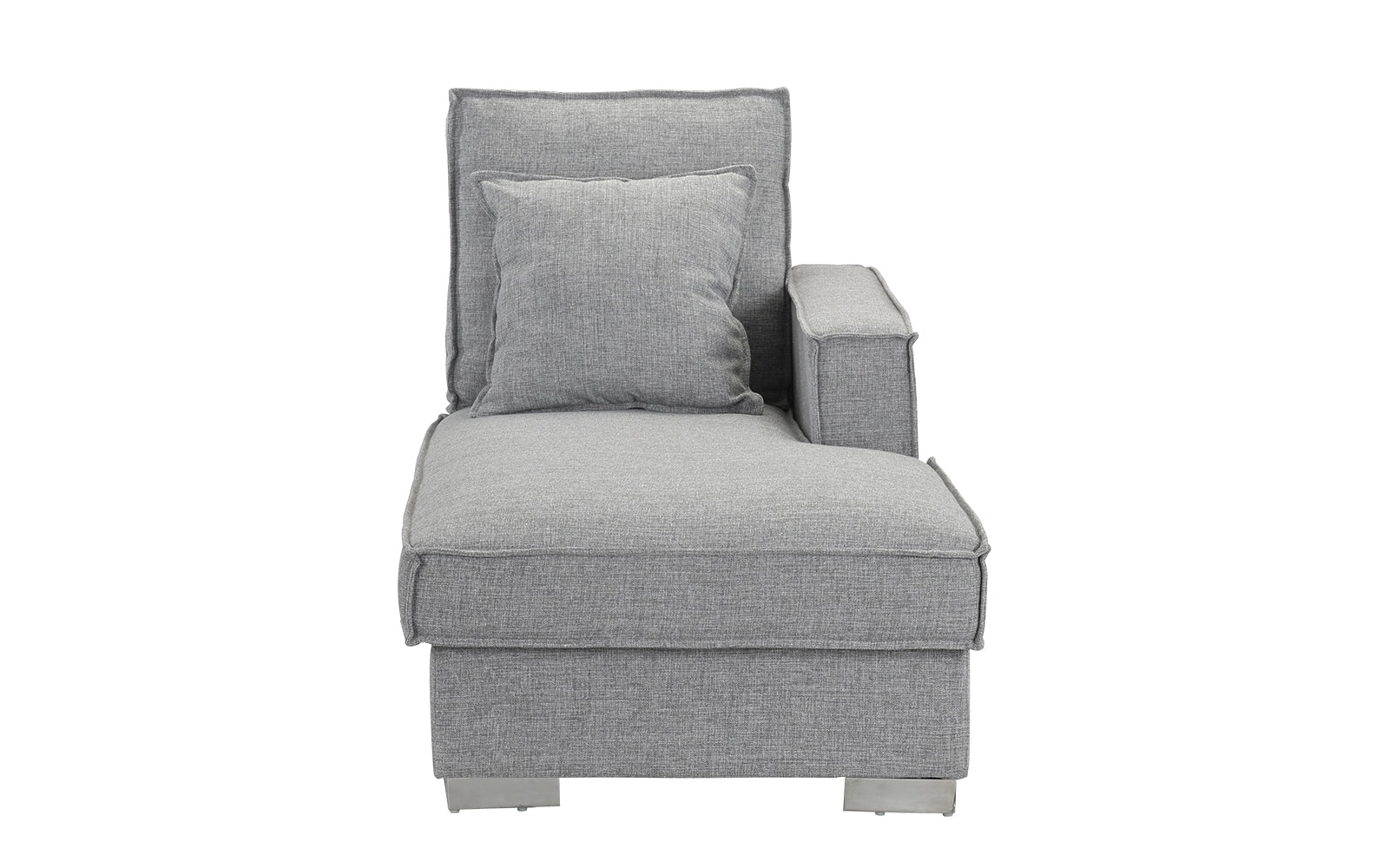 Linen Fabric Chaise Lounge Image