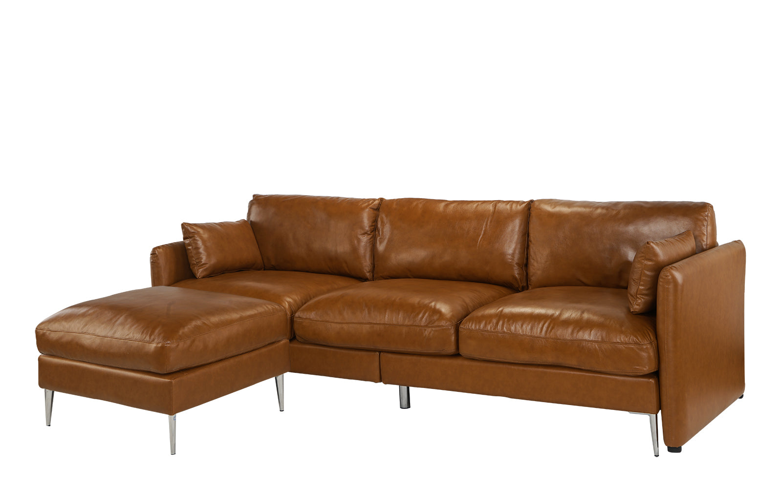 Admirable Jaxon Reversible Leather Sectional Sofa Gmtry Best Dining Table And Chair Ideas Images Gmtryco