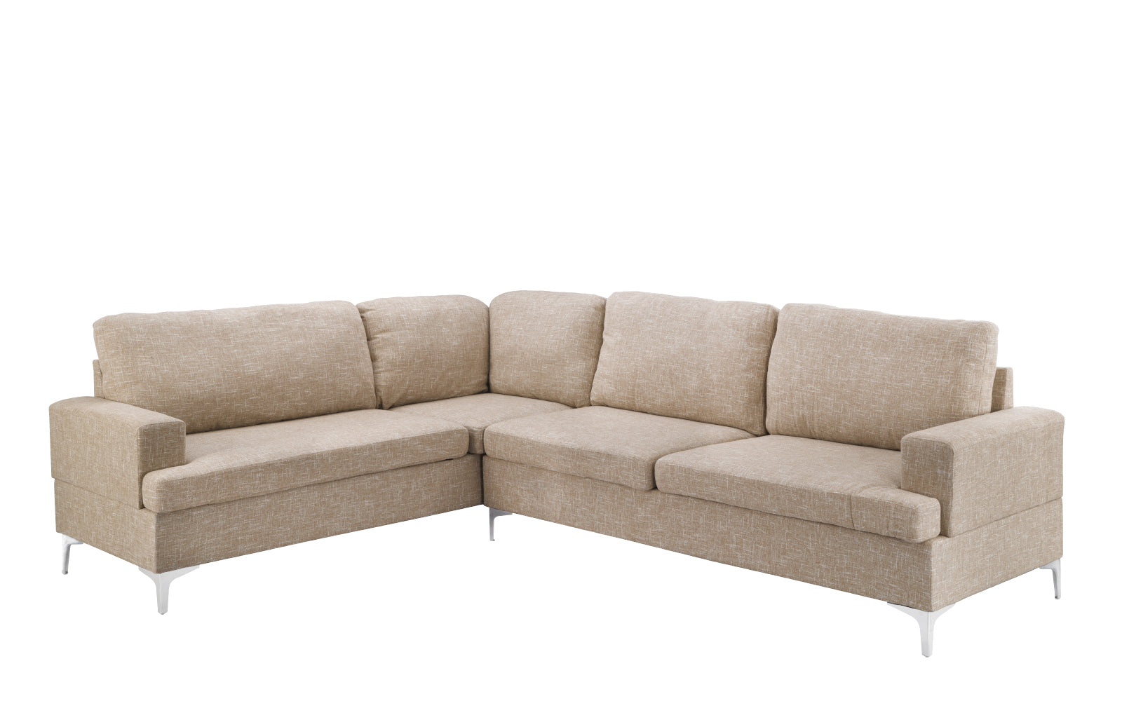 Alessandro Contemporary Oversized Sectional Sofa