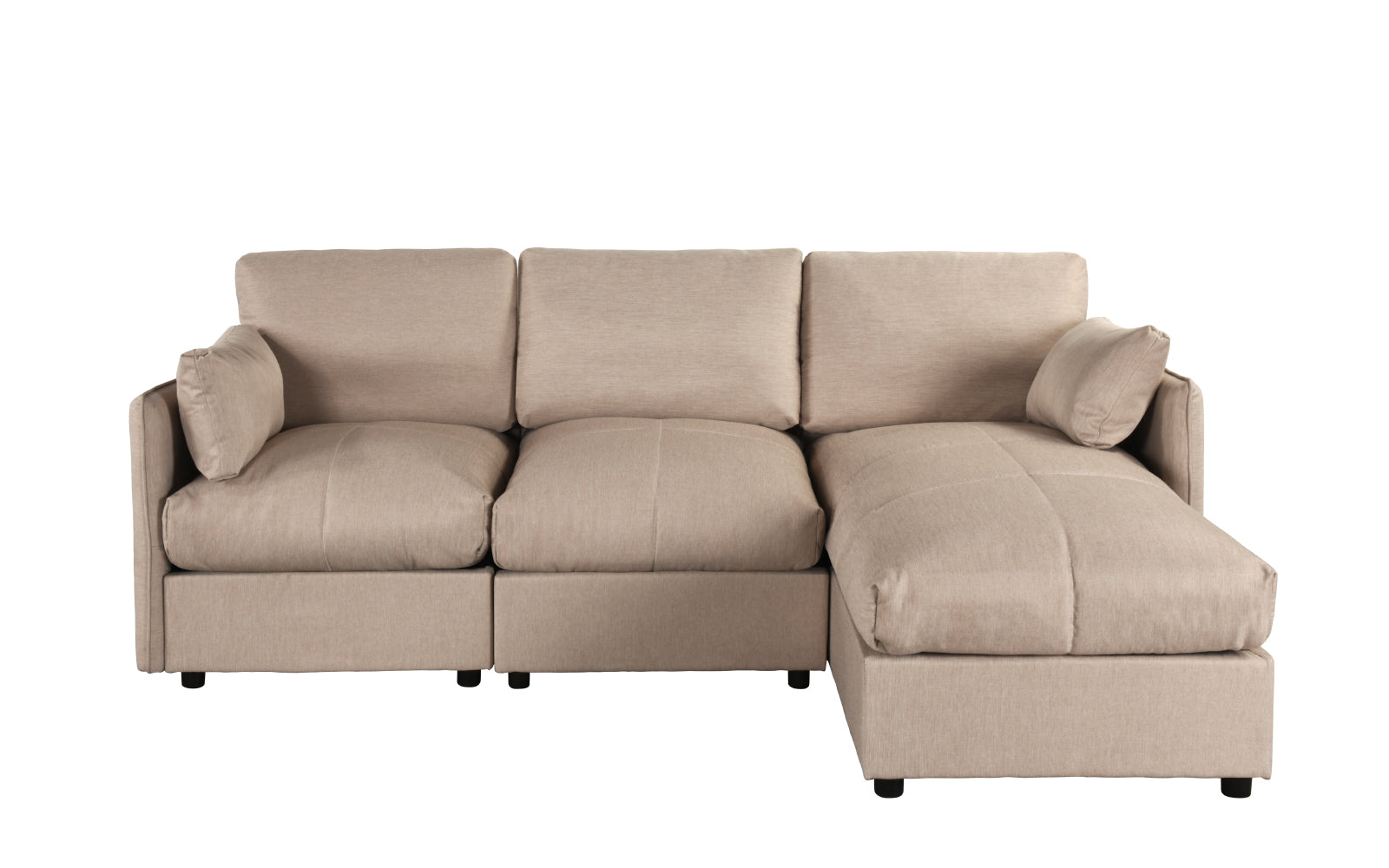 Wondrous Nour Contemporary L Shape Sectional Sofa Bralicious Painted Fabric Chair Ideas Braliciousco