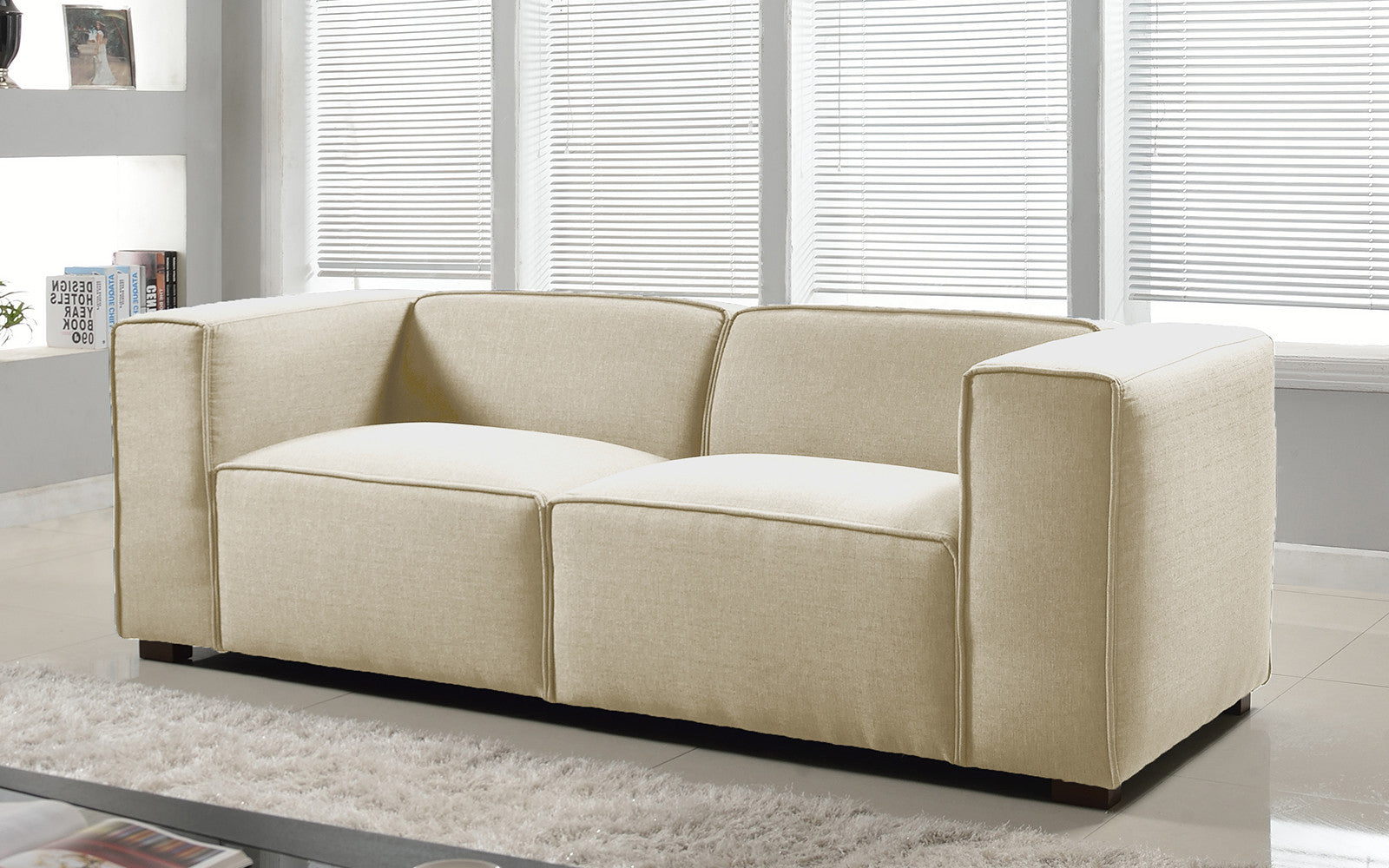 Linen Wide Sofa Image
