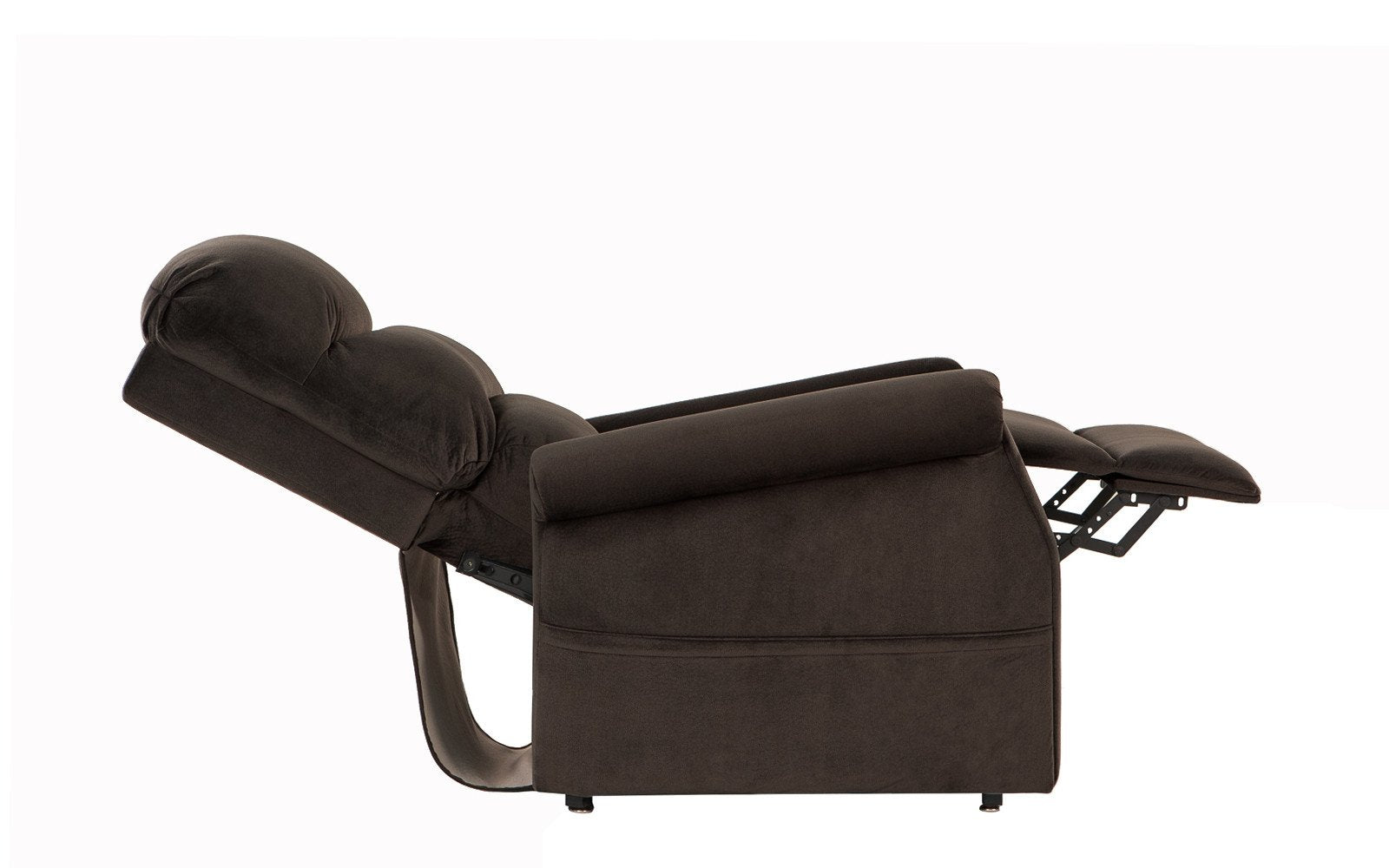 up classic power lift recliner fabric in brown