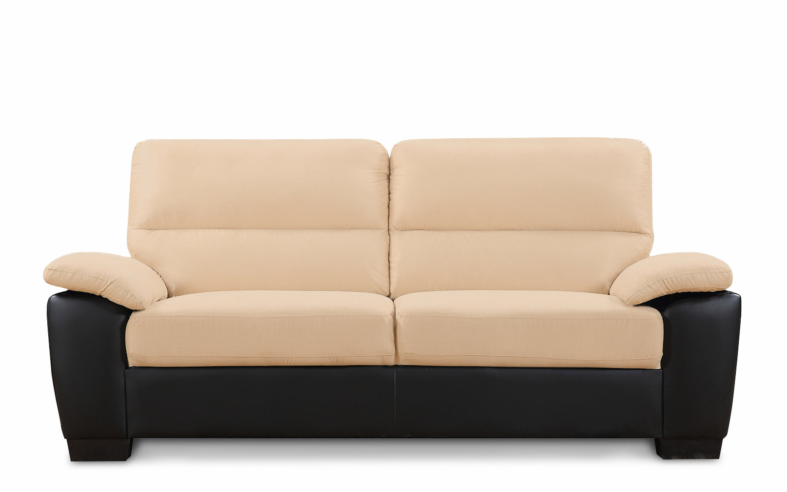 Mondo Microfiber And Bonded Leather Sofa