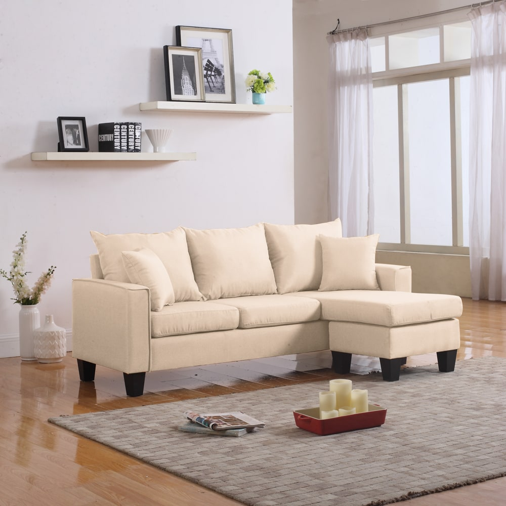 Lisa Vibrant Contemporary Small Space-Saving Sectional Sofa