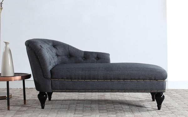 Maddy Modern Small Linen Chaise