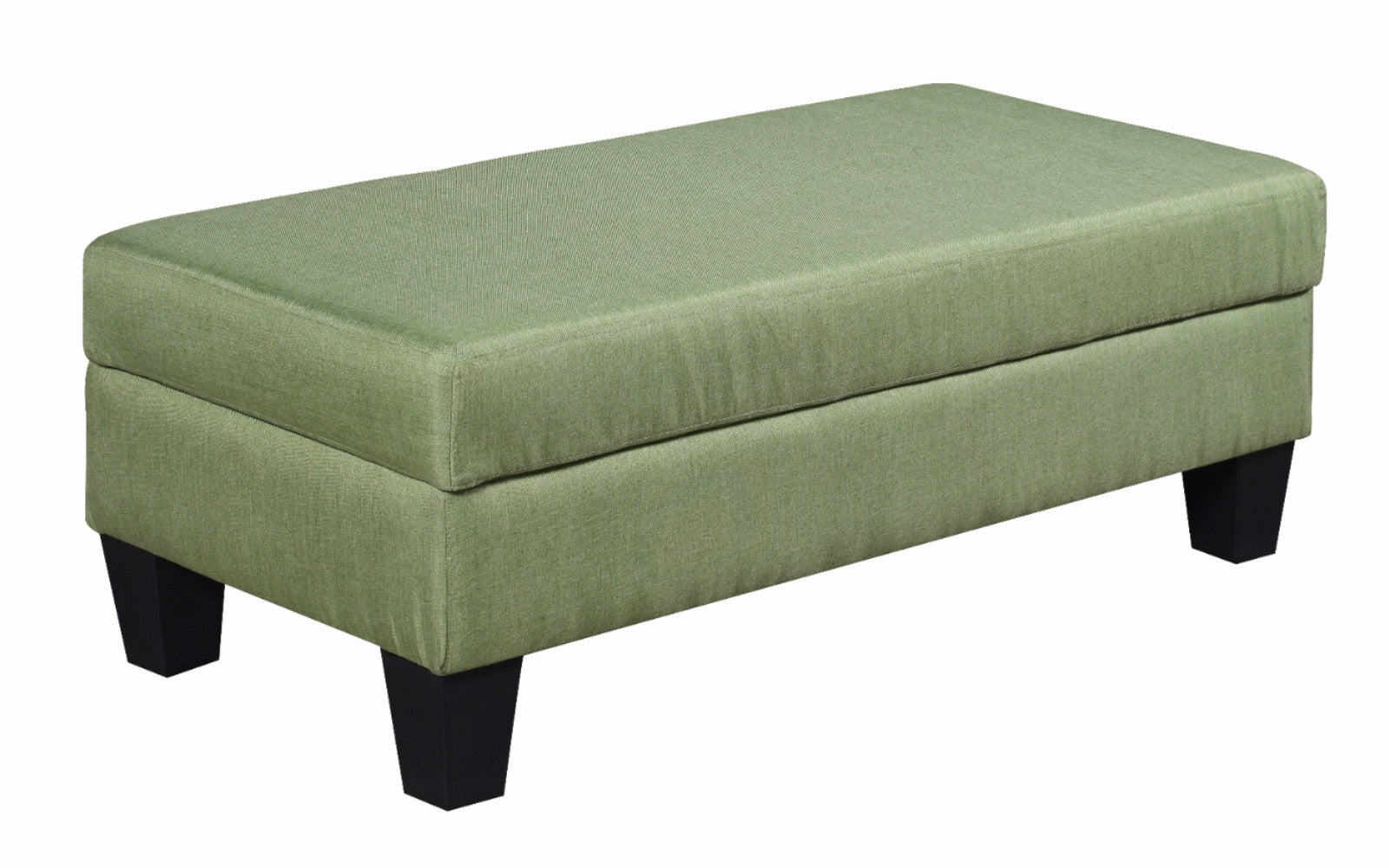... Meseta Classic Fabric Storage Bench And Ottoman In Green ...