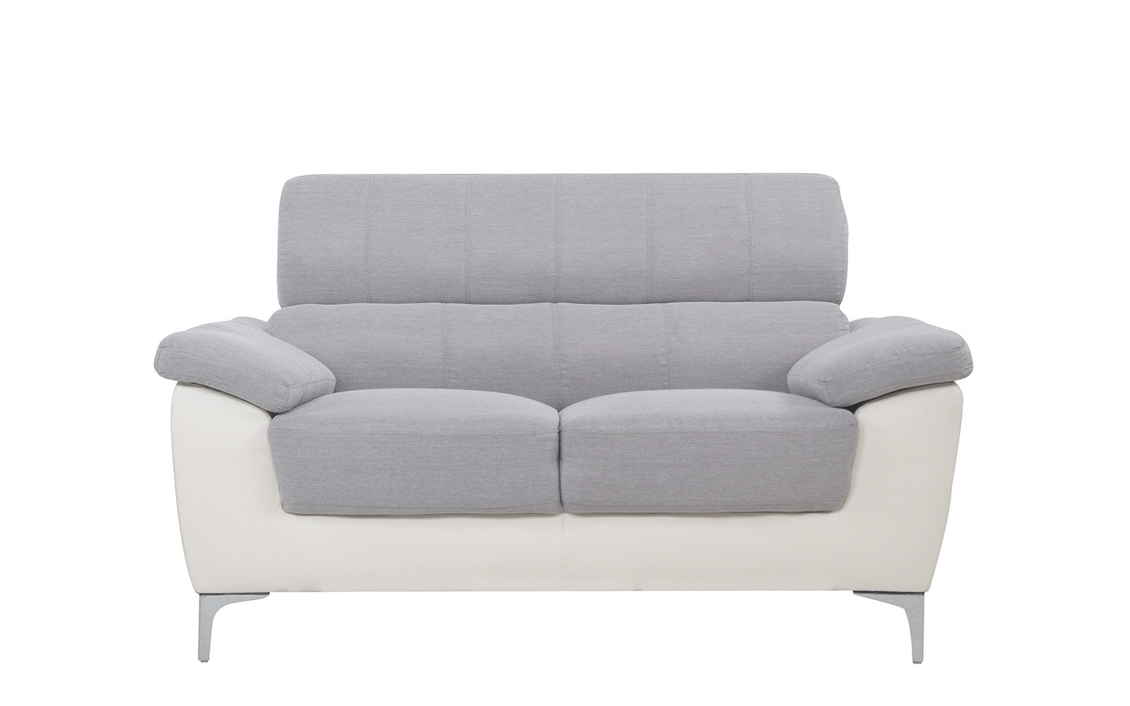 Airy Two Tone Bonded Leather Loveseat Image