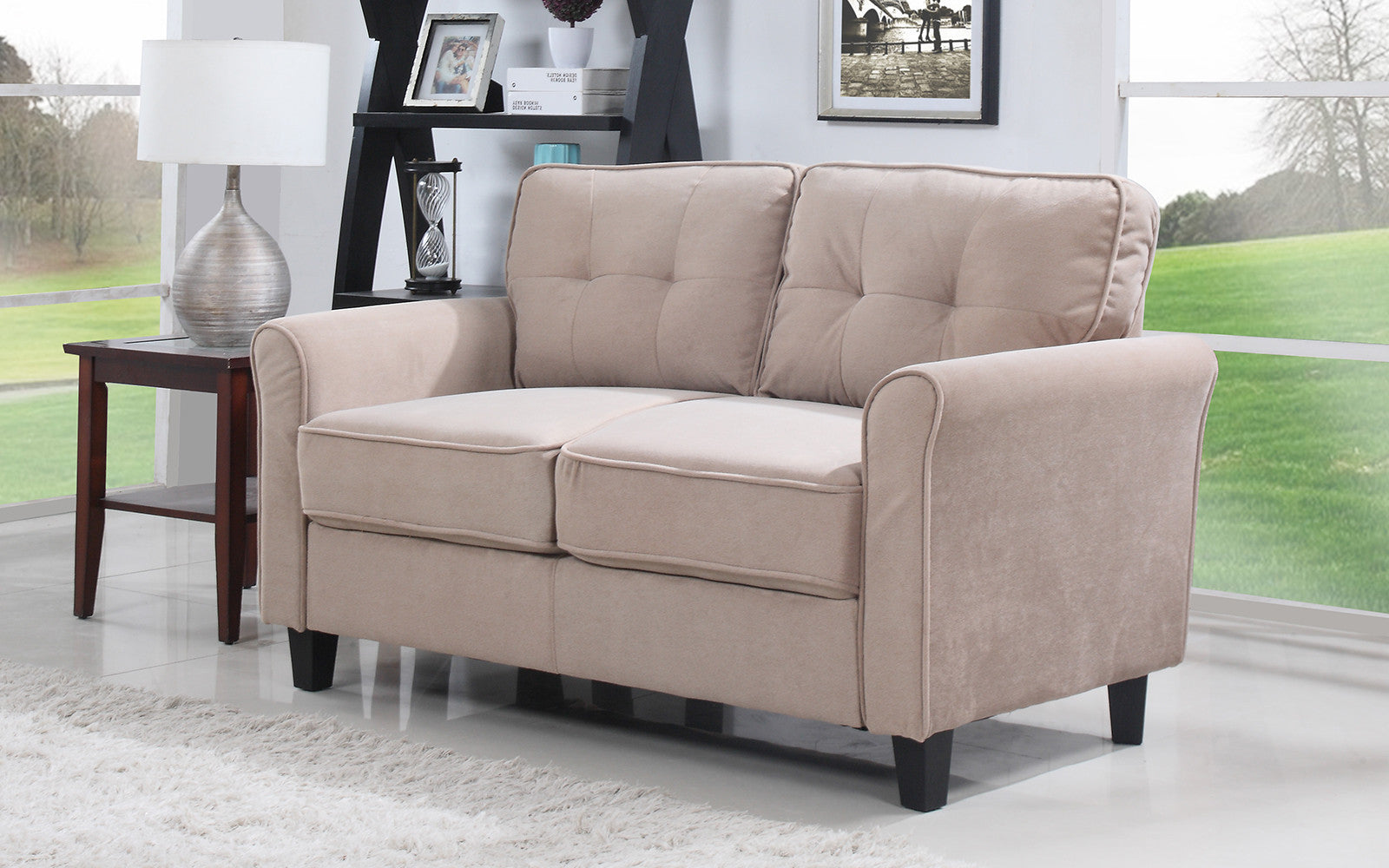 bed tan sofa loveseat interior suede micro microfiber mineral bauhaus linden convertible sectional and couch