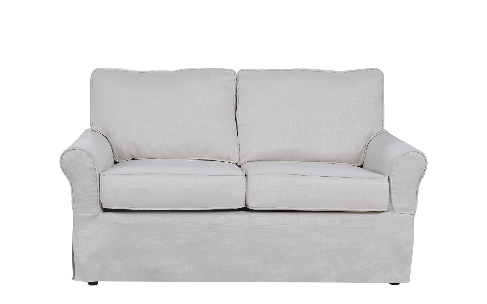 ... Griffin Classic Linen Fabric Loveseat In Beige ...