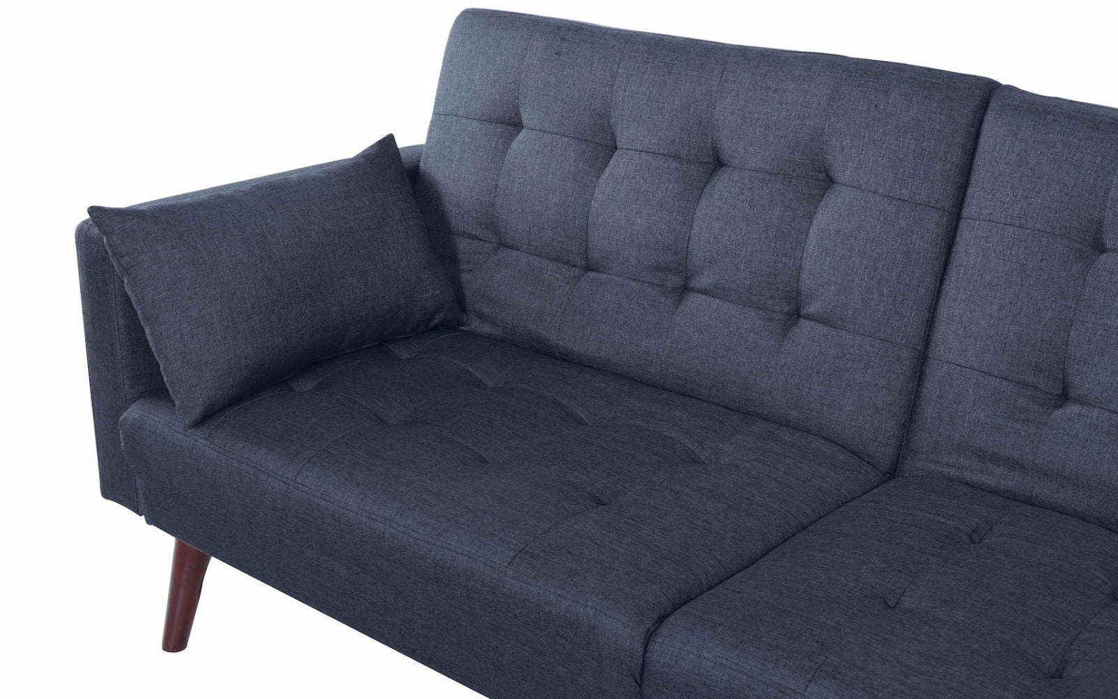 modern futon sofa bed. Dom Modern Linen Recliner Futon In Dark Grey Close Up Shot Sofa Bed H