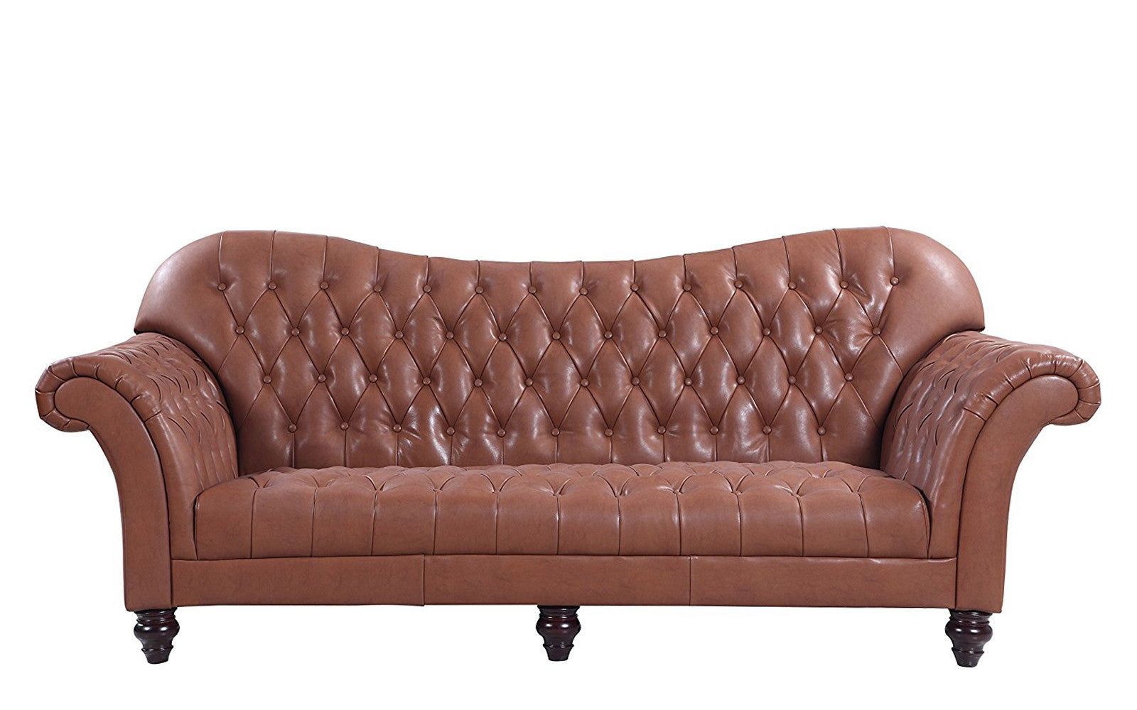 Great ... Diana Classic Victorian Italian Leather Sofa In Light Brown ...