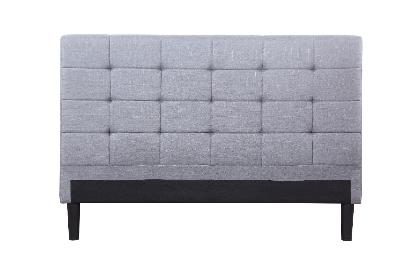 namibia classic tufted linen headboard in light grey