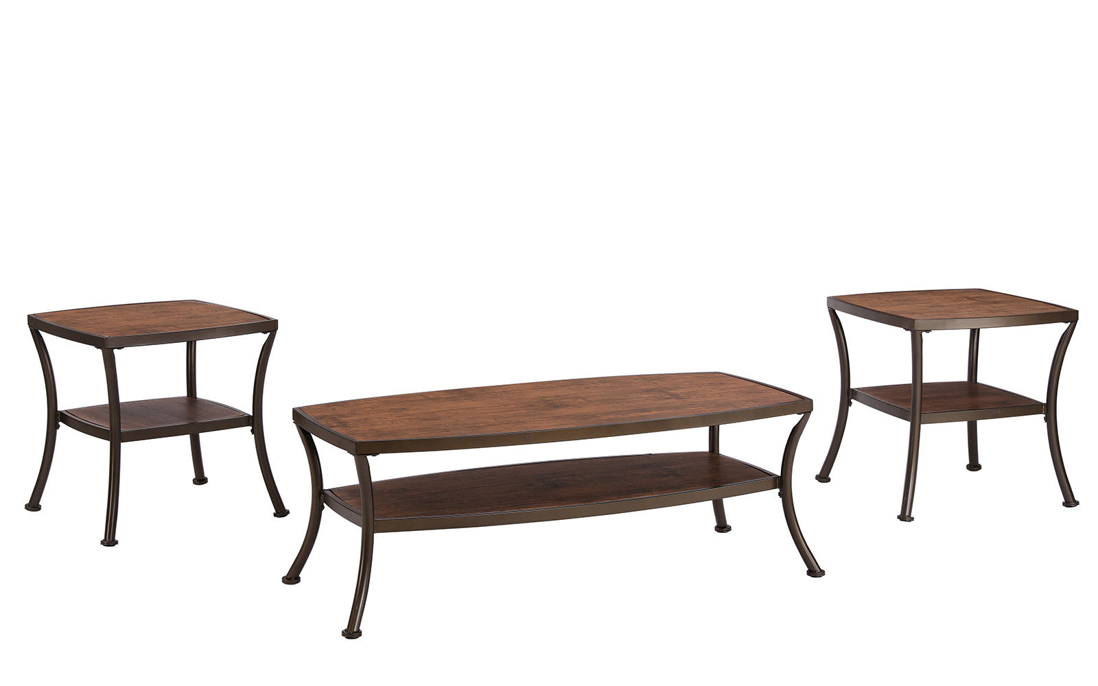 ... Sevilla 3 Piece Modern Table Set In Light Brown ...