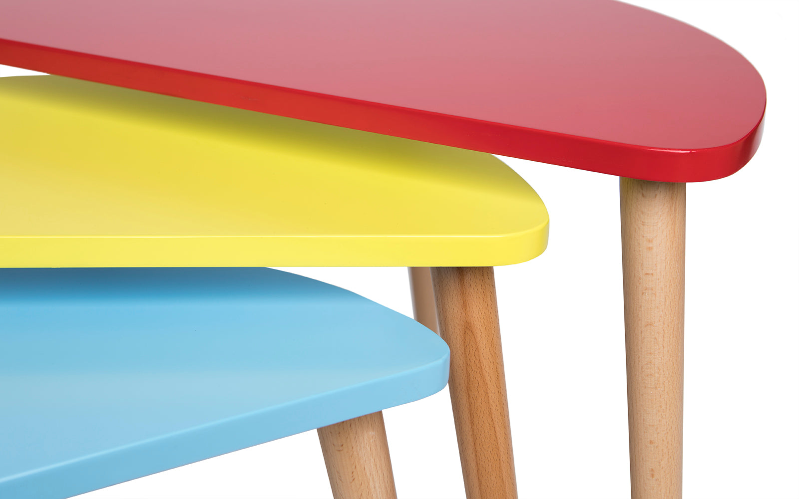 ... Trio Mid Century Modern Nesting Tables Red Yellow Blue ...