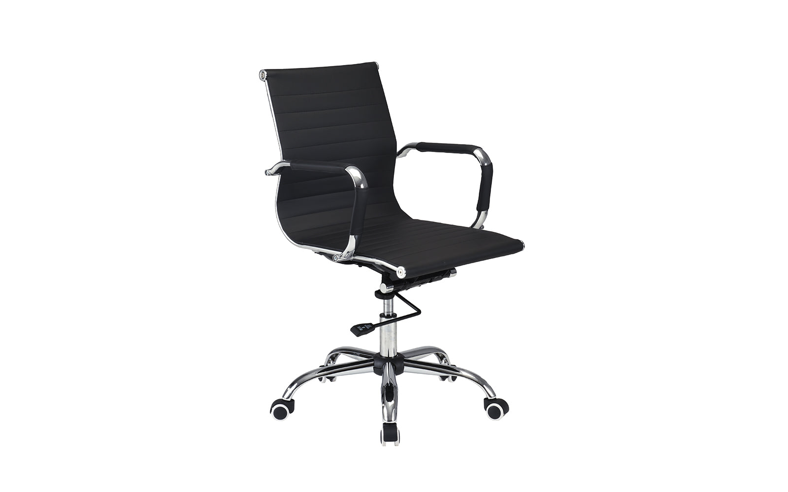 Element faux leather ergonomic swivel office chair for Swivel chairs for office