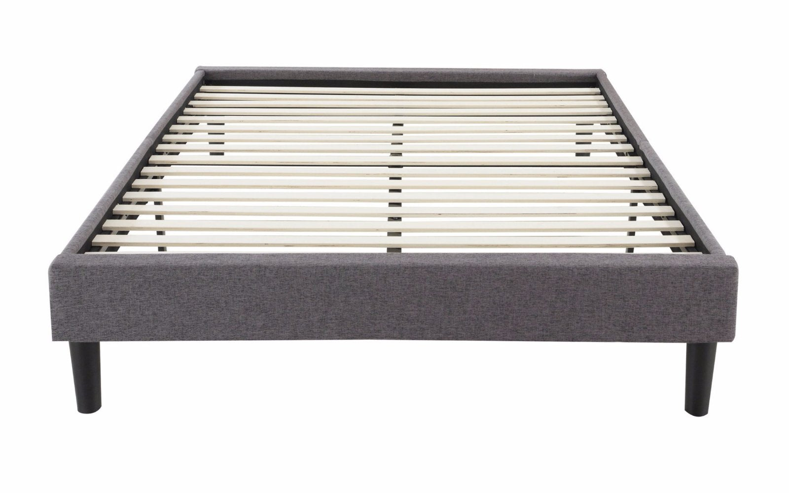 cape modern fabric bed frame with slats