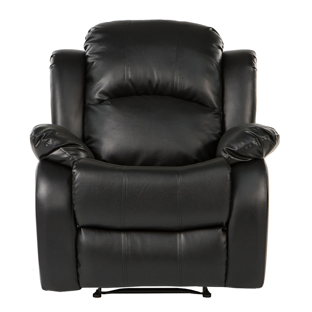 ... Bob Classic Bonded Leather Recliner Chair In Black ...  sc 1 st  Sofamania & Leather Recliner Chair | Bob Classic Bonded Leather Recliner Chair ... islam-shia.org