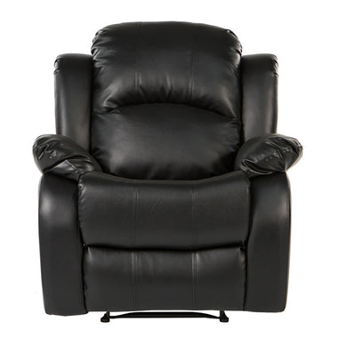 Bob Classic Bonded Leather Recliner Chair In Black
