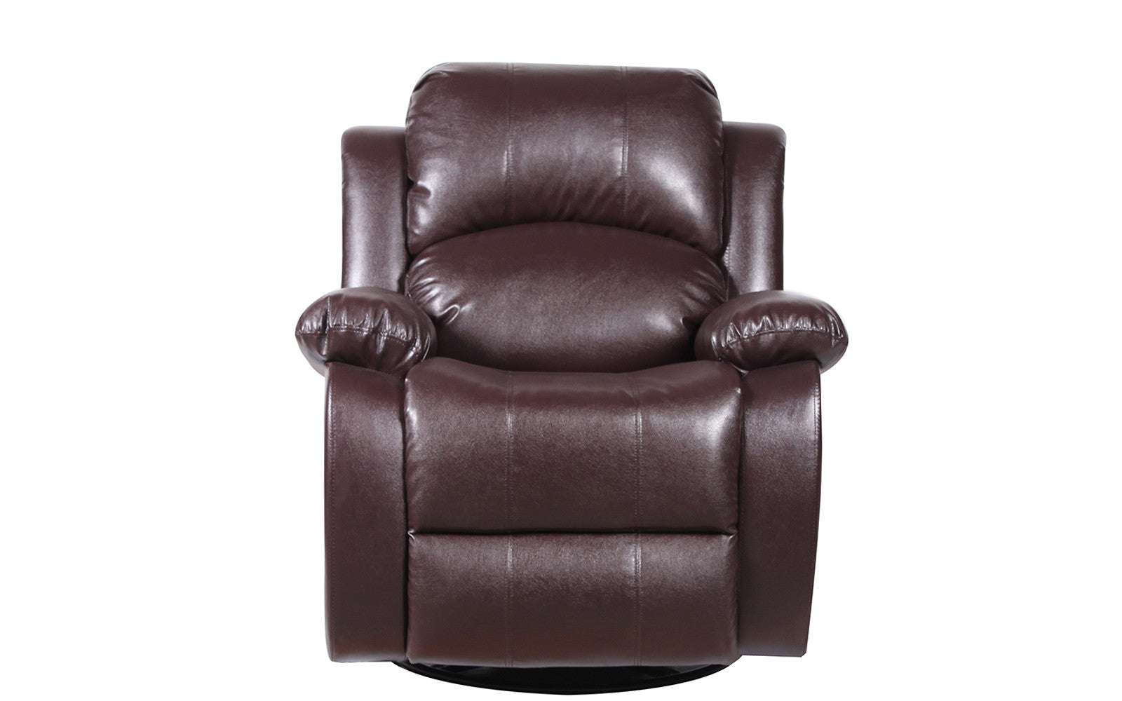 John Bonded Leather Recliner Rocker Swivel Chair In Brown ...  sc 1 st  Sofamania & Leather Recliner | Vic Classic Bonded Leather Recliner | Sofamania.com islam-shia.org
