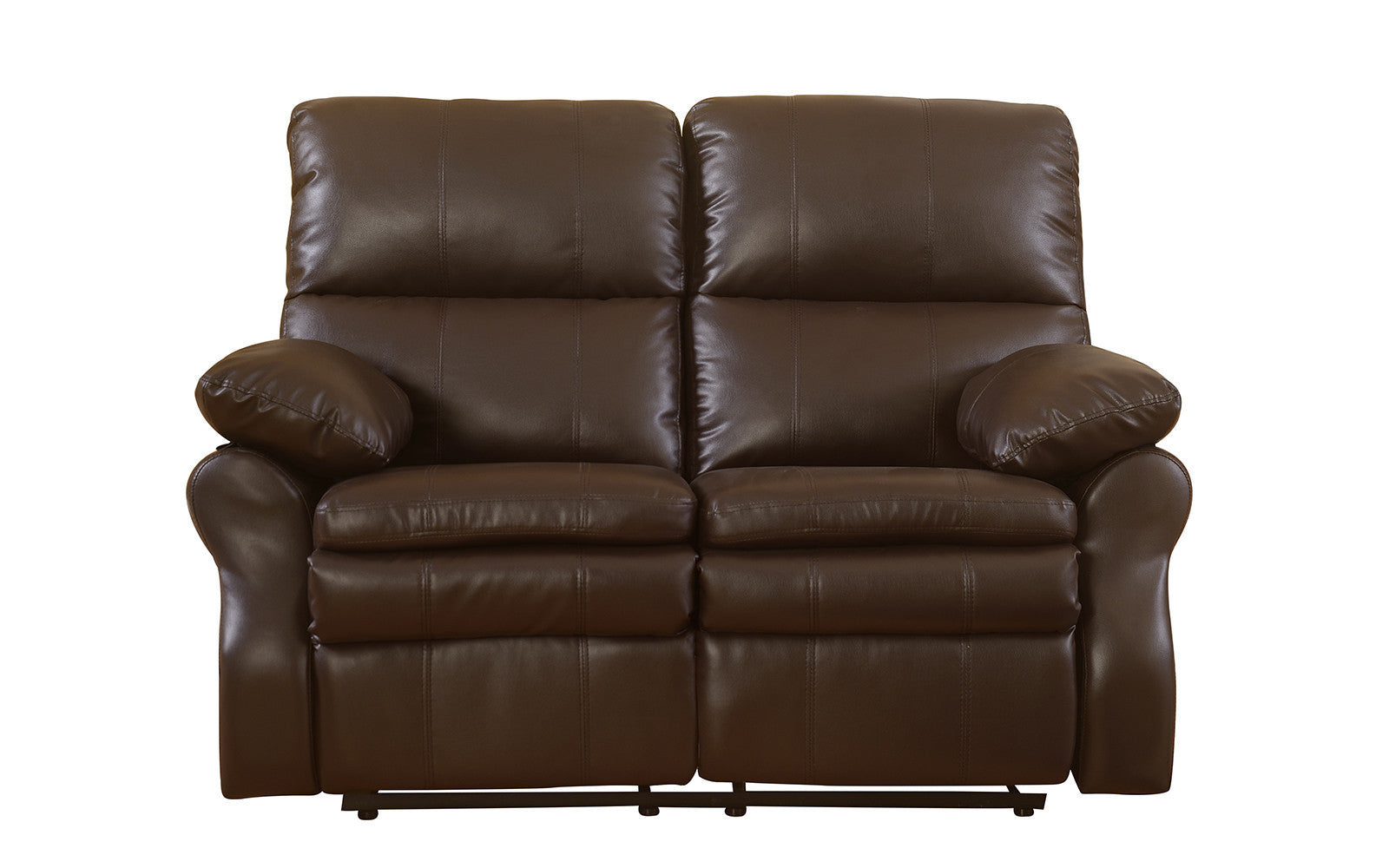 Bonded Leather Recliner Loveseat Image