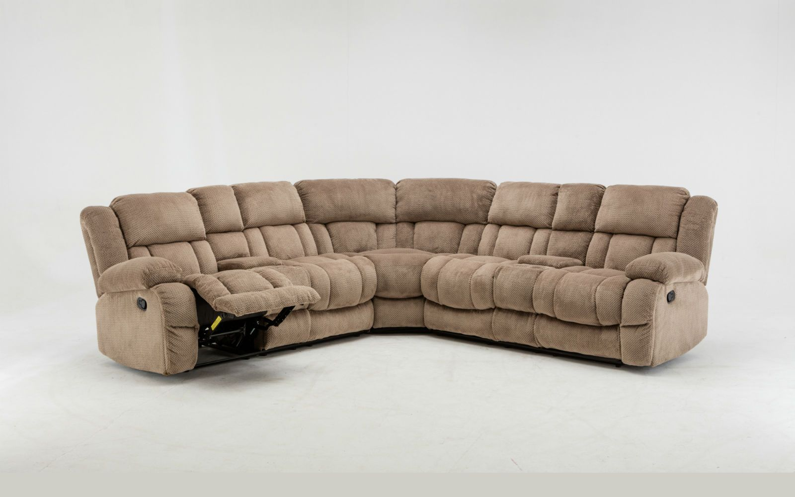 Linen Fabric L Shape Sectional Recliner Sofa Image