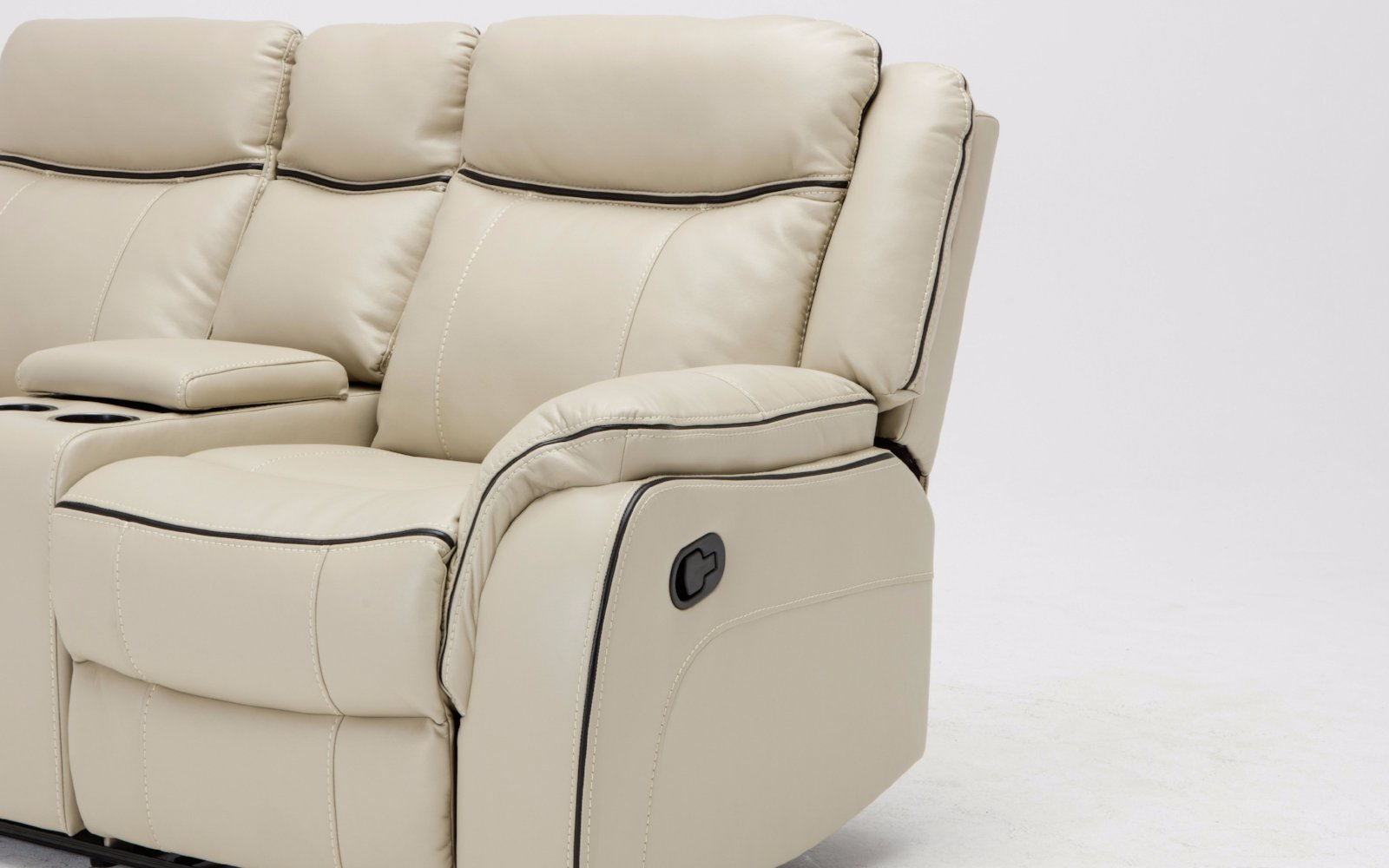 Paul Classic Bonded Leather Recliner Sectional : beige leather recliner - islam-shia.org