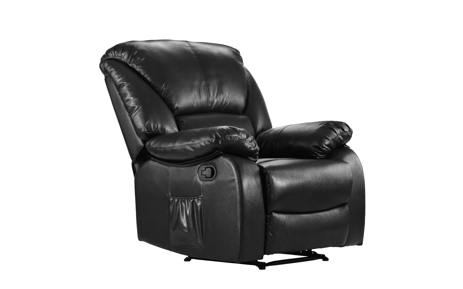 Superieur ... Bach Full Body Massage Recliner Chair Black Angle ...