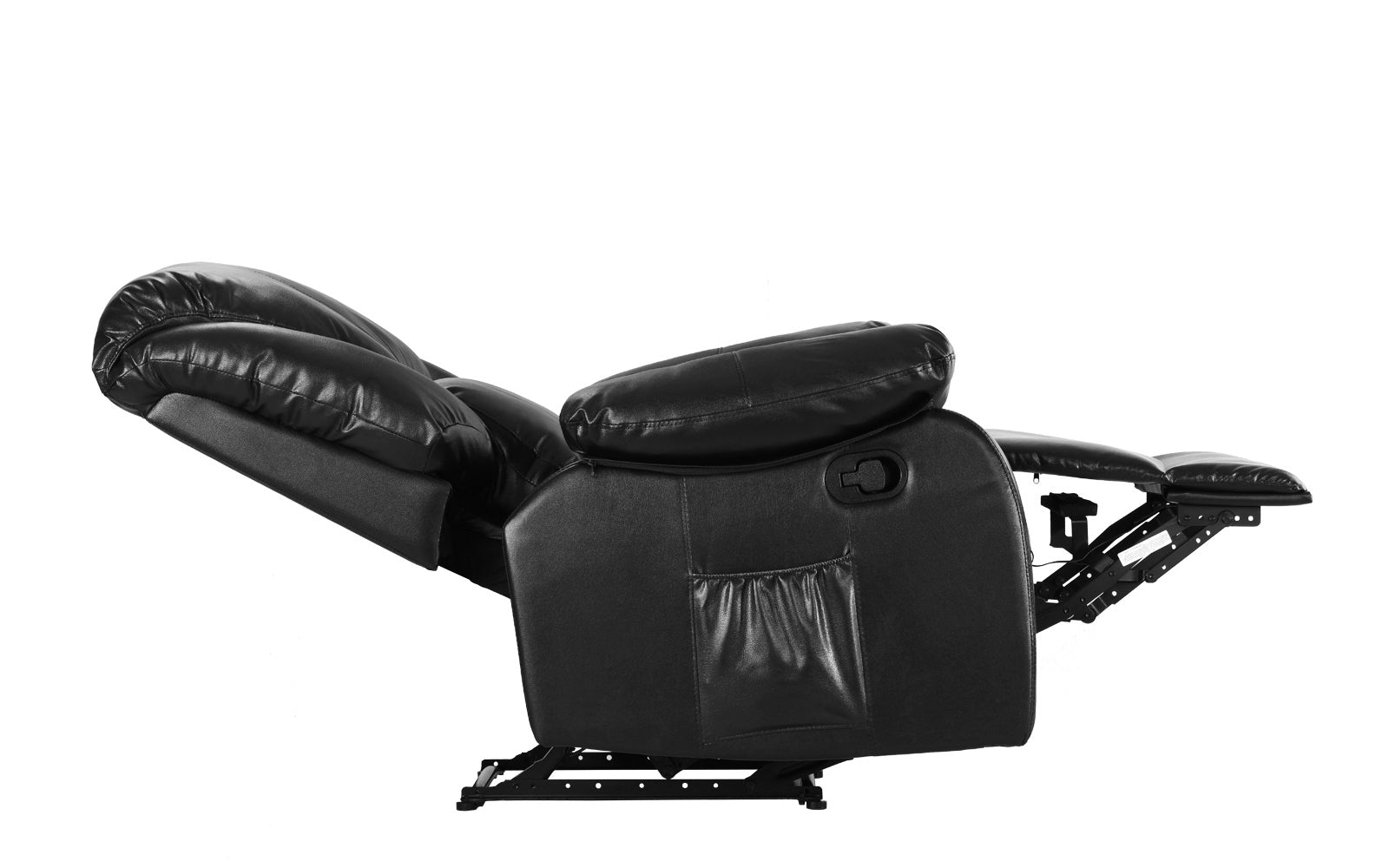 ... Bach Full Body Massage Recliner Chair Black Reclined ...