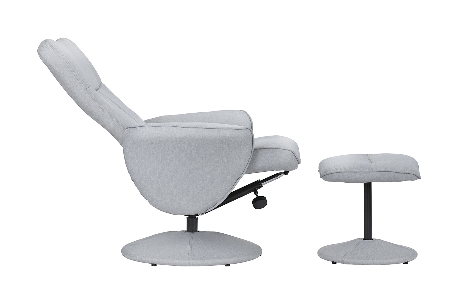 hal modern fabric high back reclining executive chair with footrest