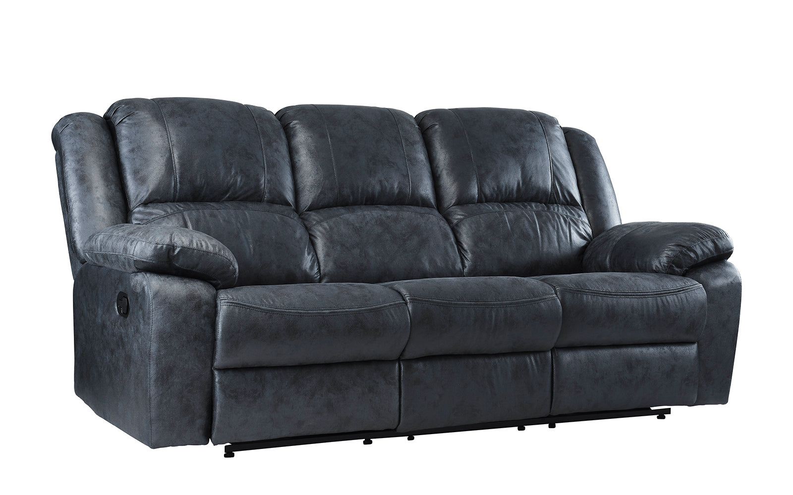 Overstuffed leather chair - Jerome Oversized And Overstuffed Living Room Recliner Set