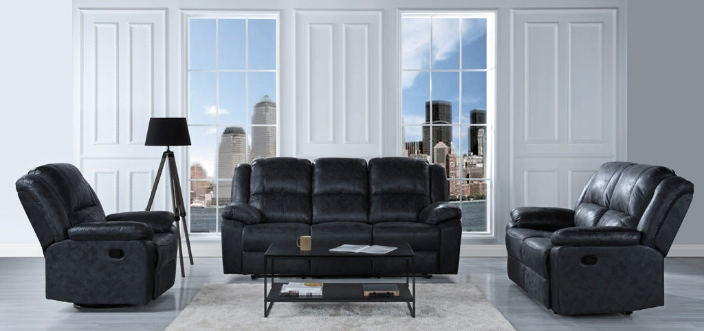 Oversized Overstuffed Living Room Recliner Set Image