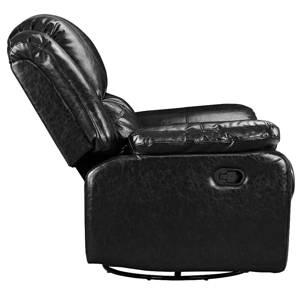 oversized leather recliner. Jerry Oversized Bonded Leather Recliner Profile