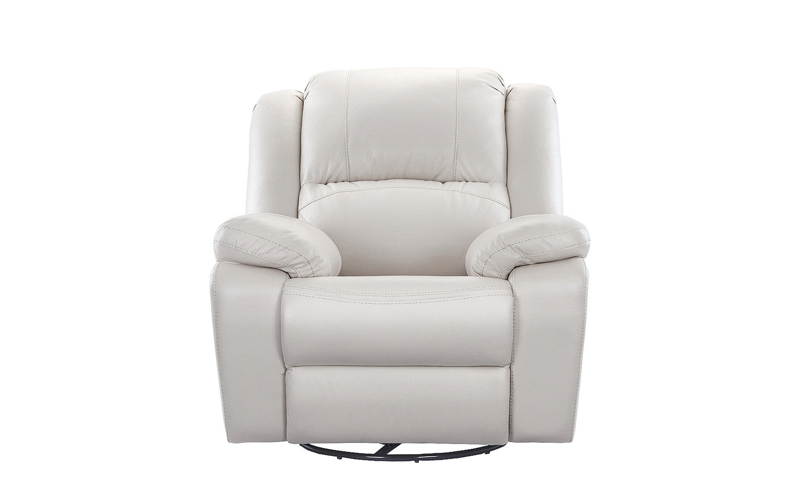 ... Tom Oversize Air Leather Recliner In Ivory Front Shot ...  sc 1 st  Sofamania : beige leather recliner - islam-shia.org