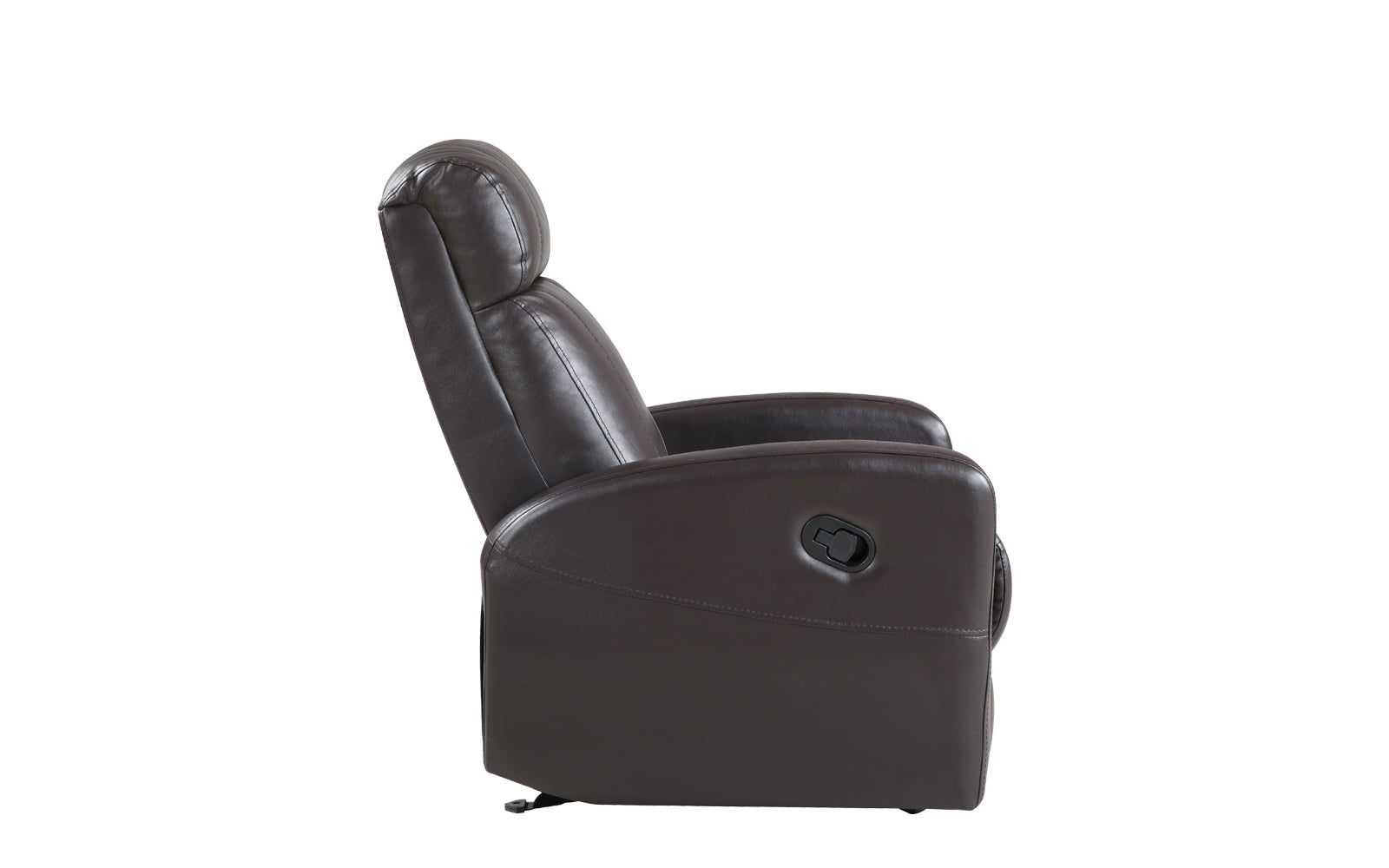 Groovy Sabin Modern Faux Leather Recliner Sofamania Com Onthecornerstone Fun Painted Chair Ideas Images Onthecornerstoneorg