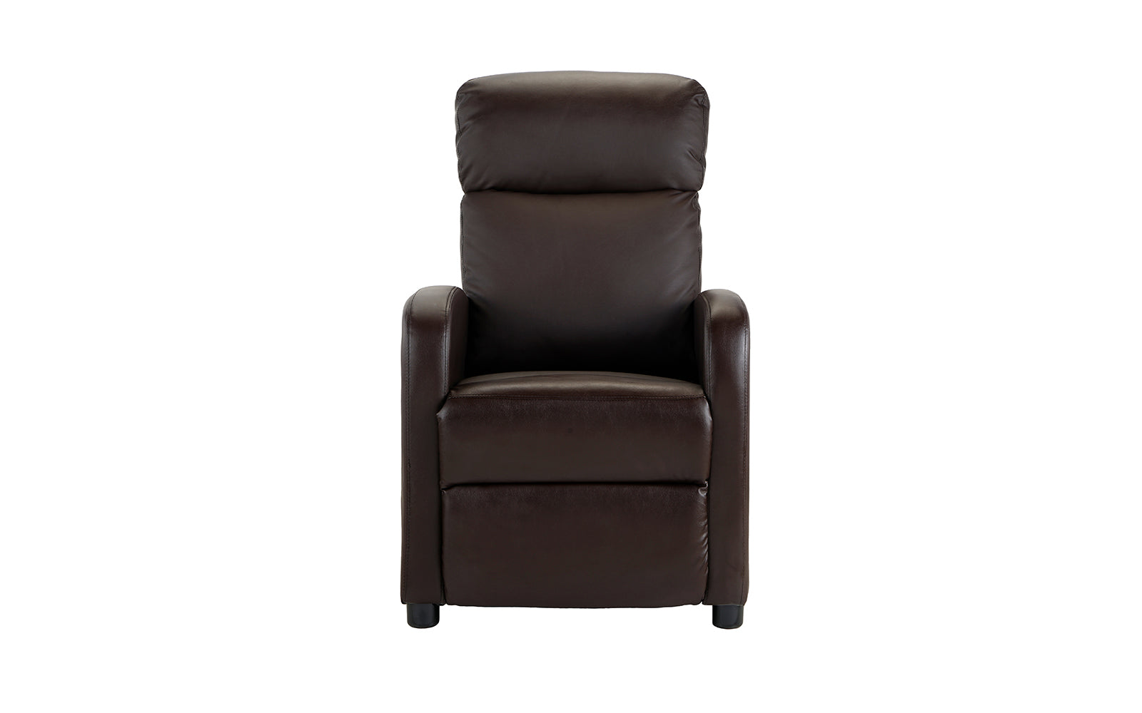 Faux Leather Compact Reclining Arm Chair Image