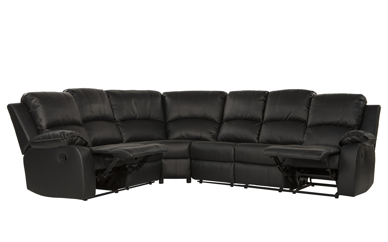 Bonded Leather Recliner Sectional Bond Classic Bonded  : REC10BLACK3 from www.sofamania.com size 1600 x 1000 jpeg 106kB