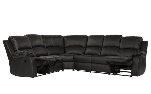 Bond Classic 6-Seat Leather Reclining Sectional Sofa | Sofamania.com