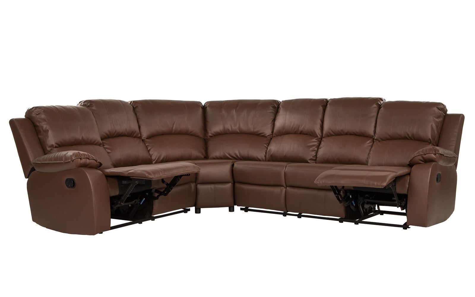 Bond Classic 6-Seat Leather Reclining Sectional Sofa