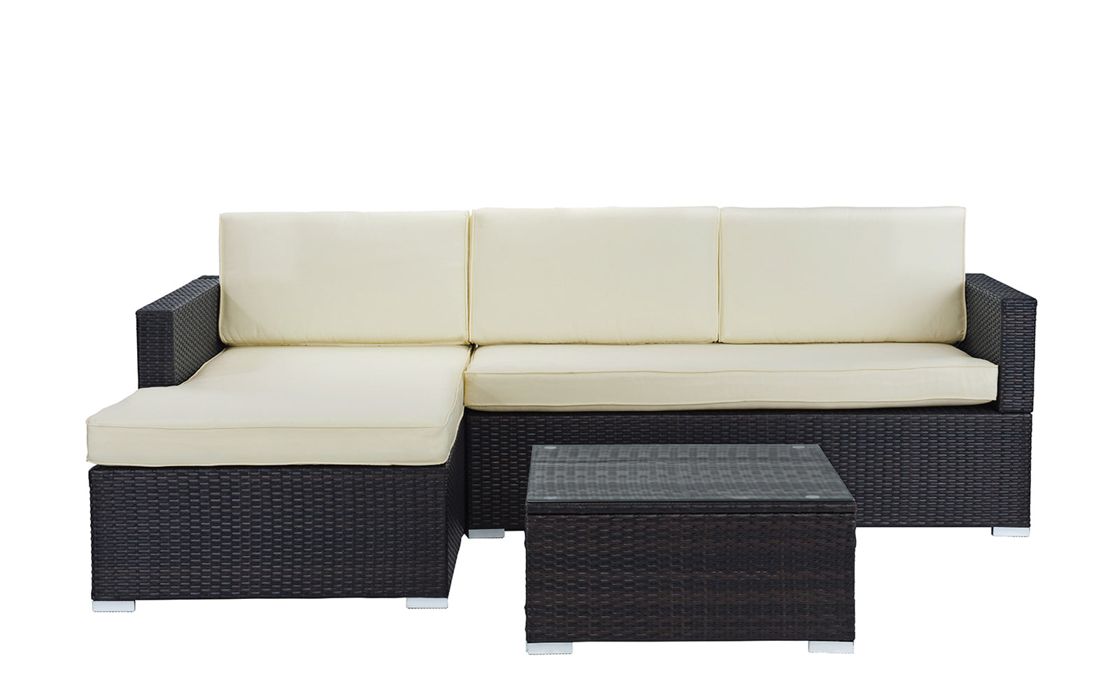 Hilo Modern Outdoor Sectional With Coffee Table